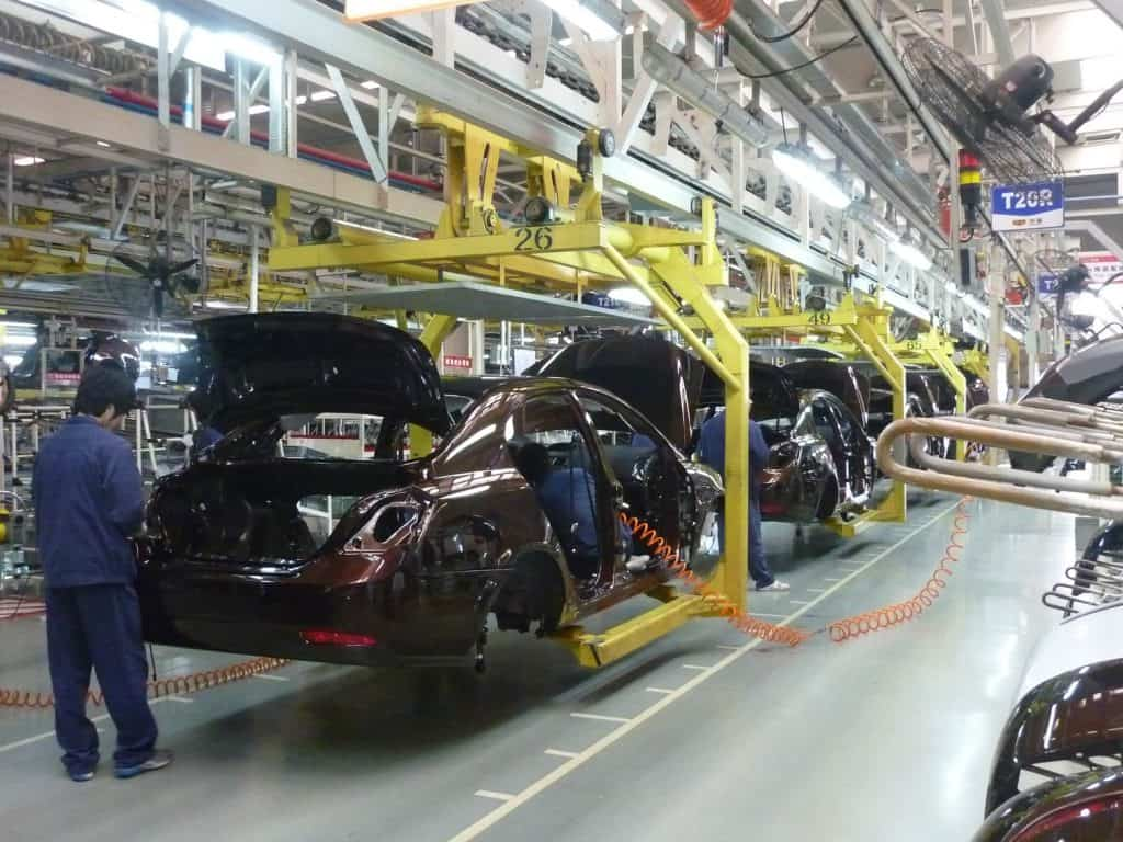 Geely Car Assembly Line in Beilun