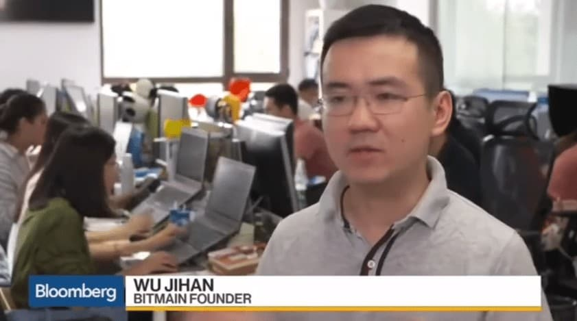 Jihan Wu on Bloomberg