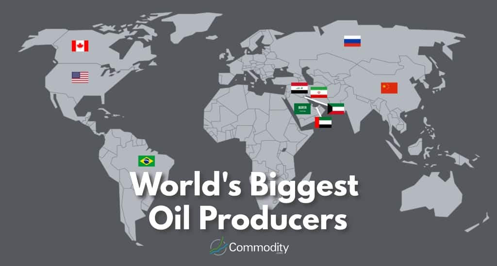 Map Showing Biggest Oil Producing countries