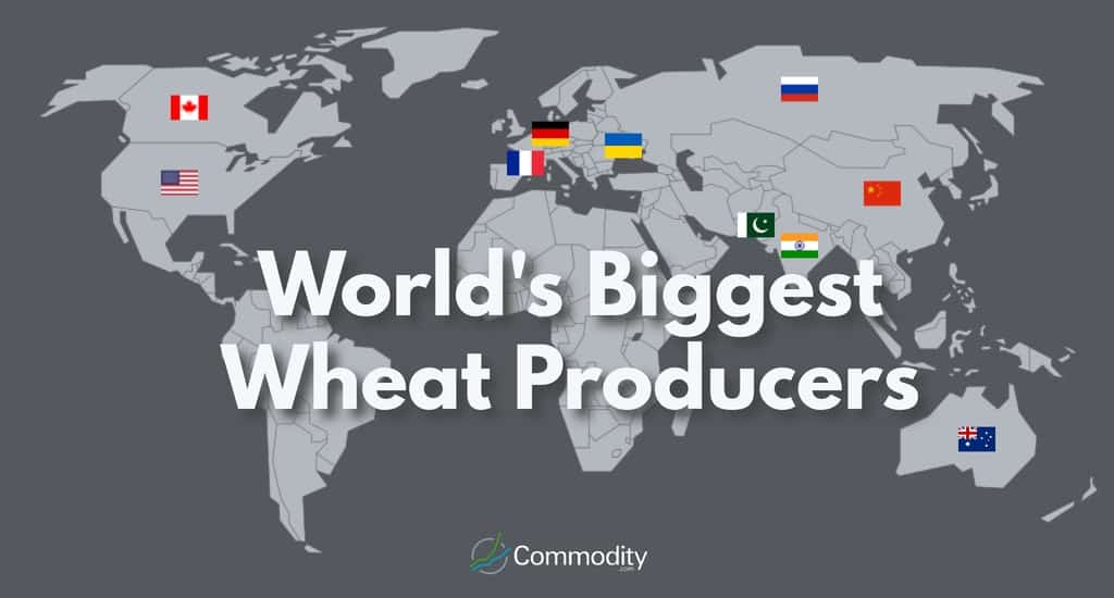 map showing the top 10 wheat producing countries