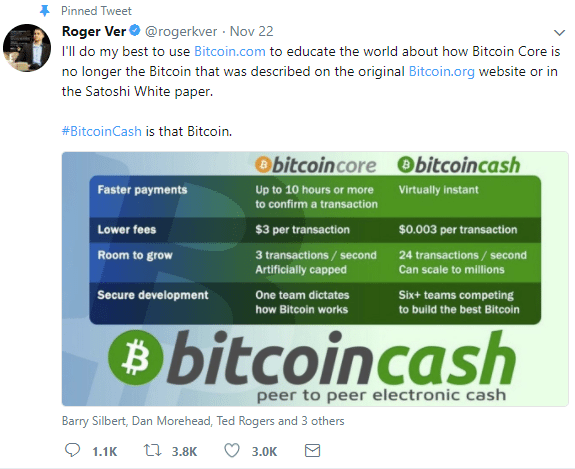 bitcoin cash vs bitcoin comparison