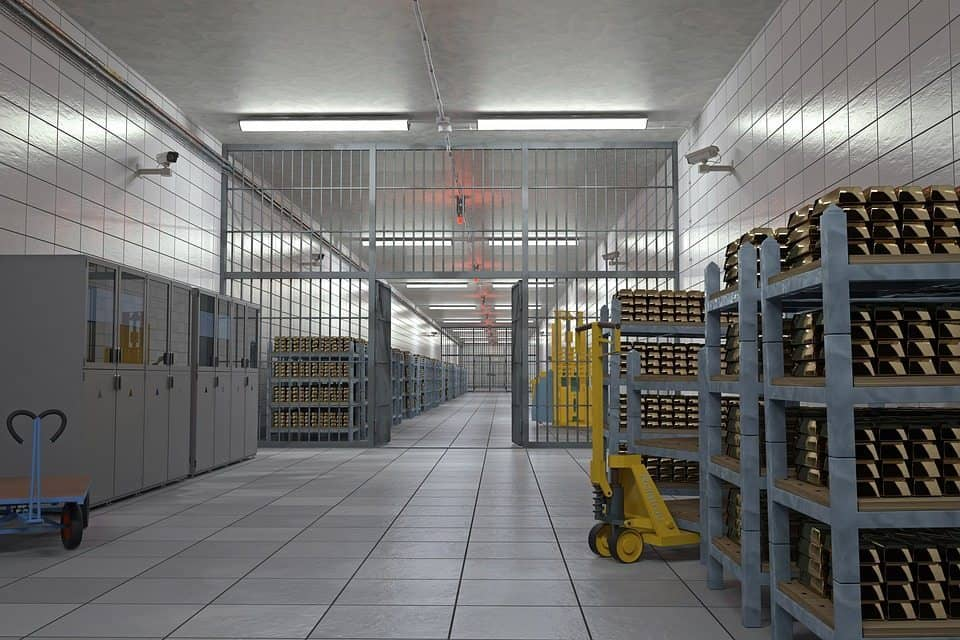 Fort Knox inside gold vault