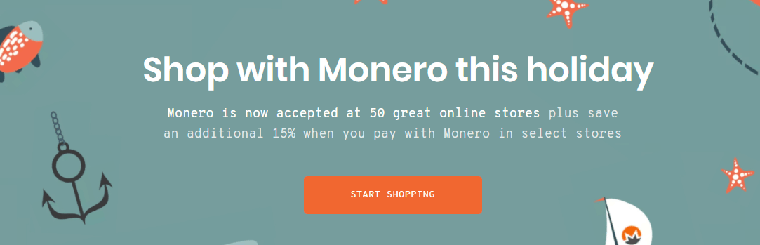 shop with monero