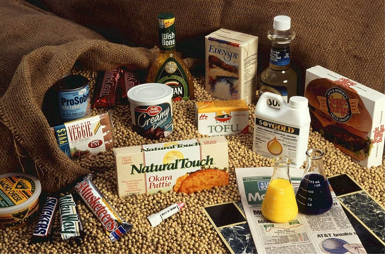 various soy products