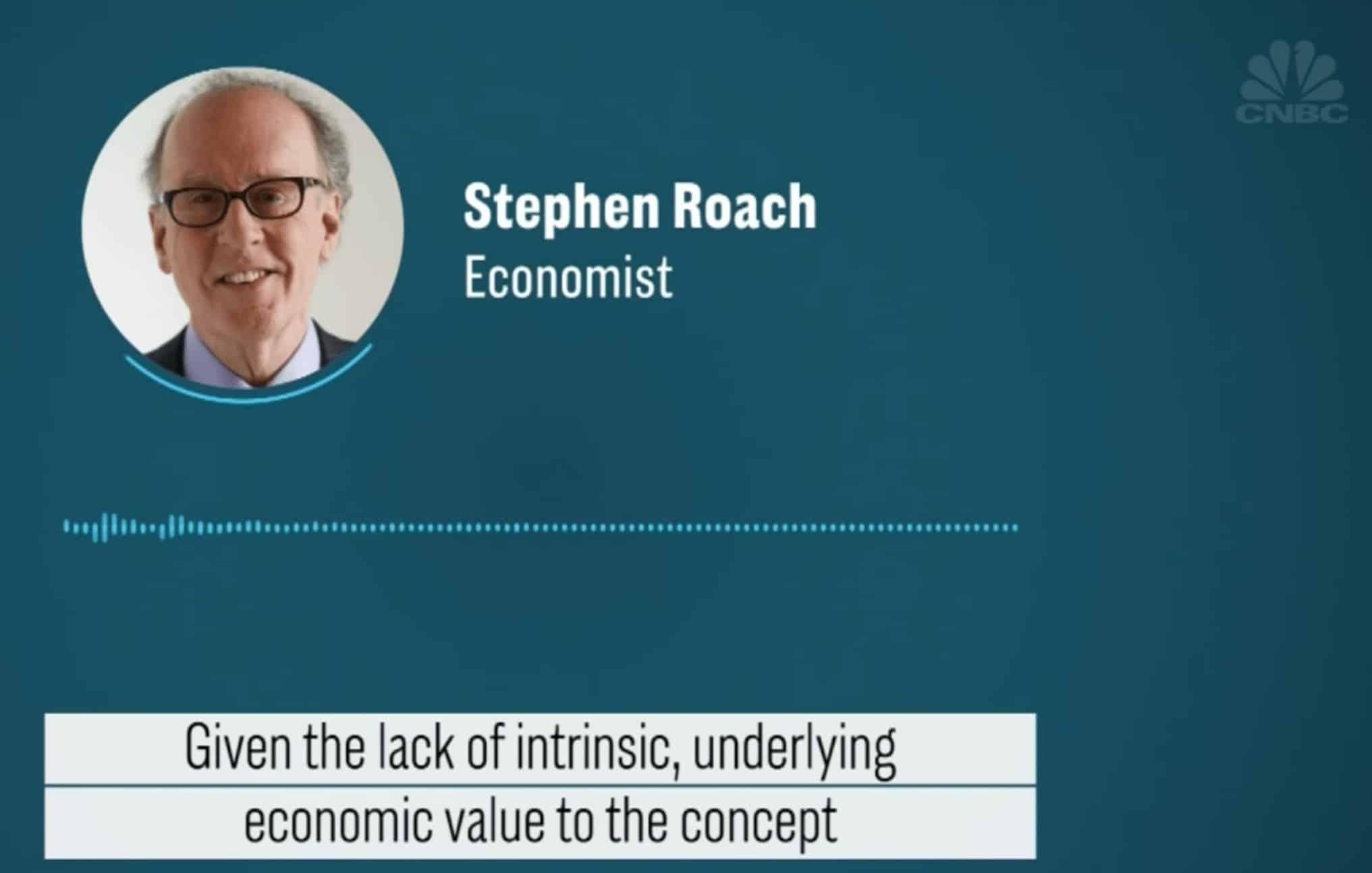 Stephen Roach interview CNBC