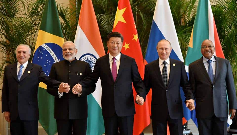 BRICS Leaders at the 2016 G20 Summit in China