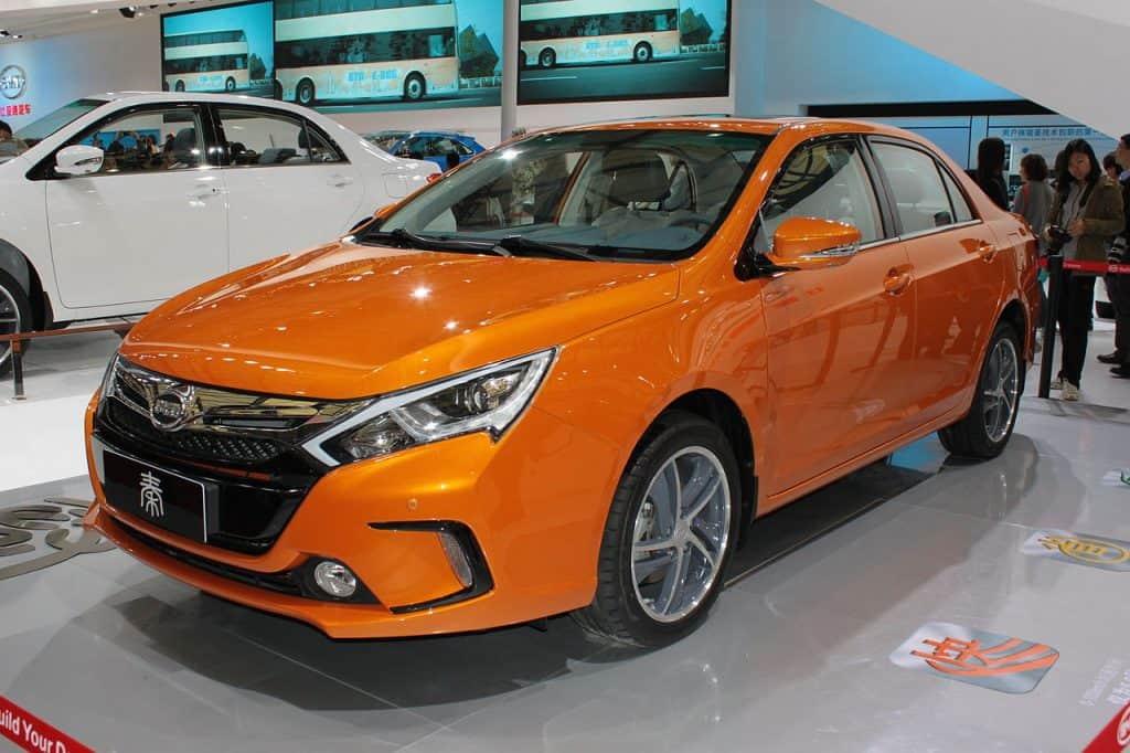 BYD Qin Hybrid Vehicle in China via Wikimedia