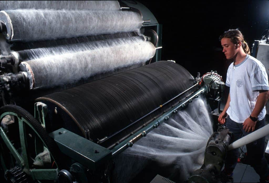 Carding Wool via Science Image
