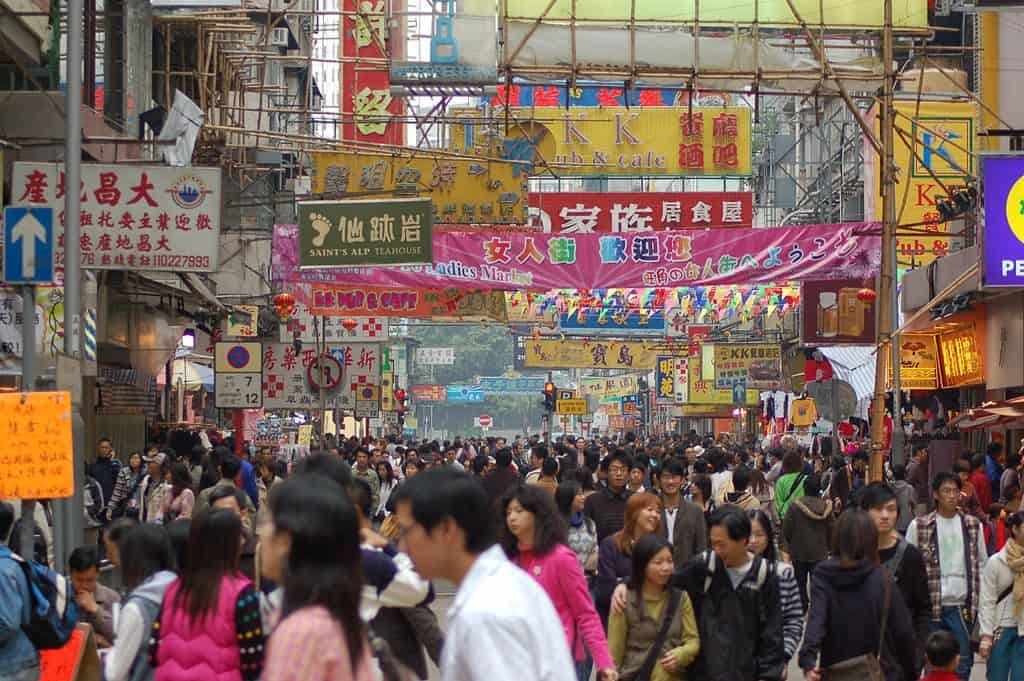 Crowds in Asia via Wikimedia