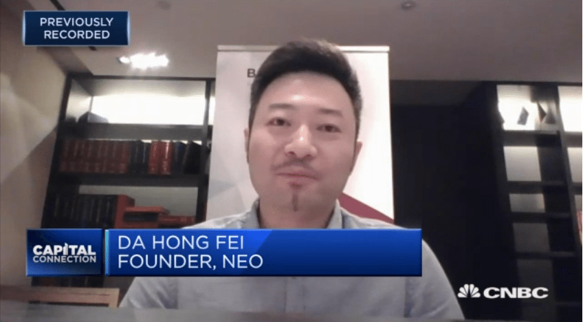 DA Hong FEI - NEO via CNBC