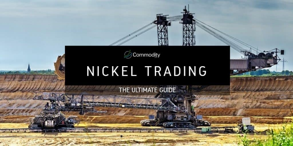 Nickel Trading Header showing a mining excavator