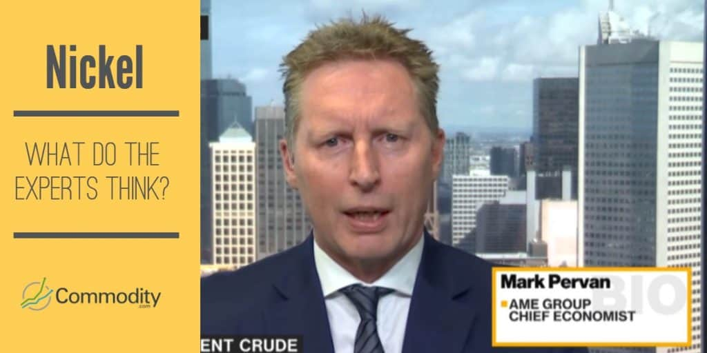 What do experts like Mark Pervan think about nickel?