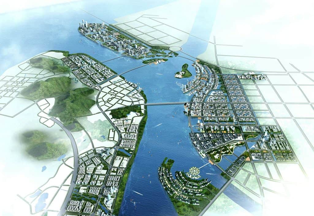 Smart City Nansha, China via ISA Internationales Stadtbauatelier on Wikimedia