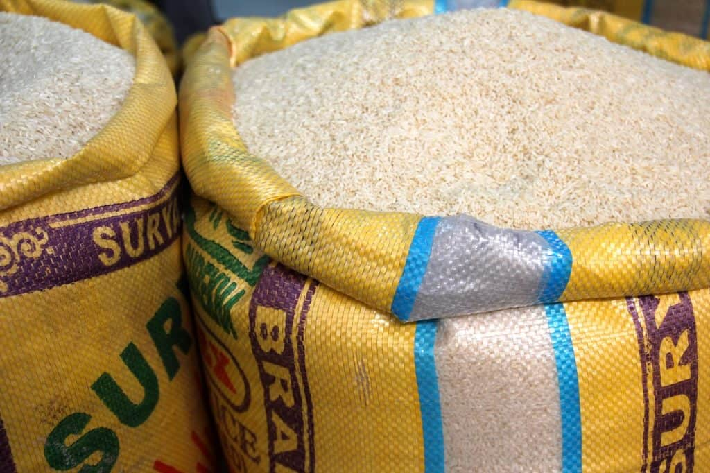 rice sacks via pixabay
