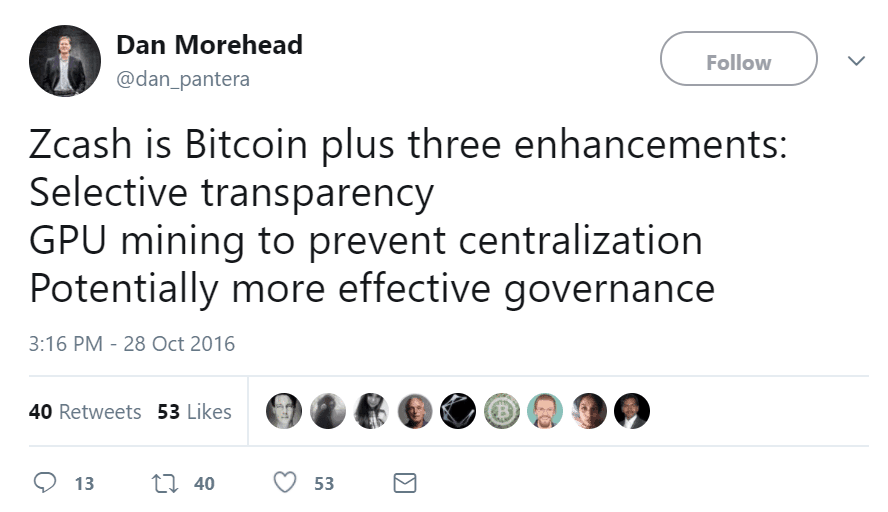 twitter status Dan Morehead