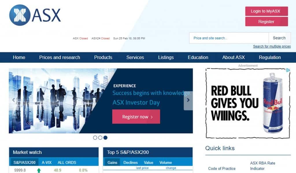ASX Homepage