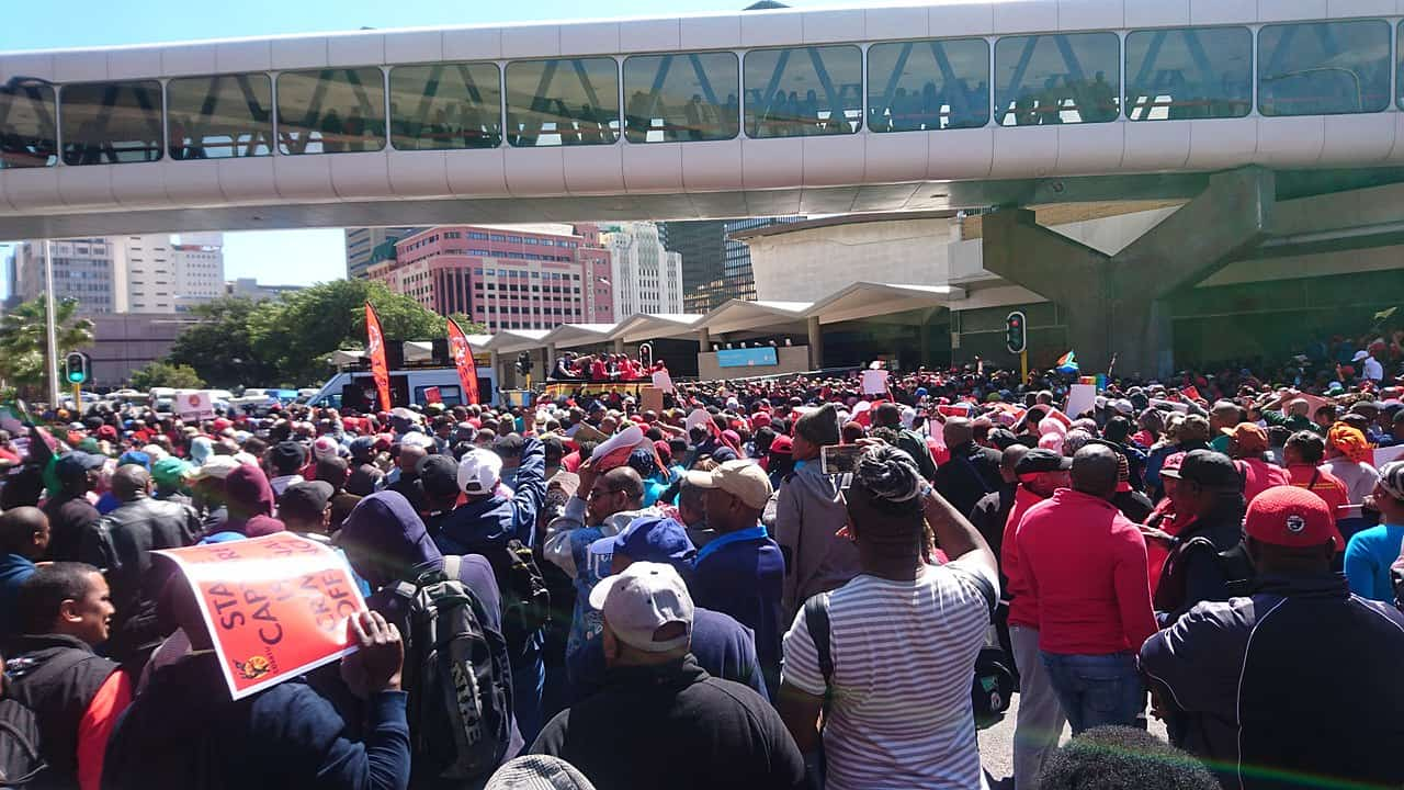 COSATU State Capture Protest via Discott on Wikimedia