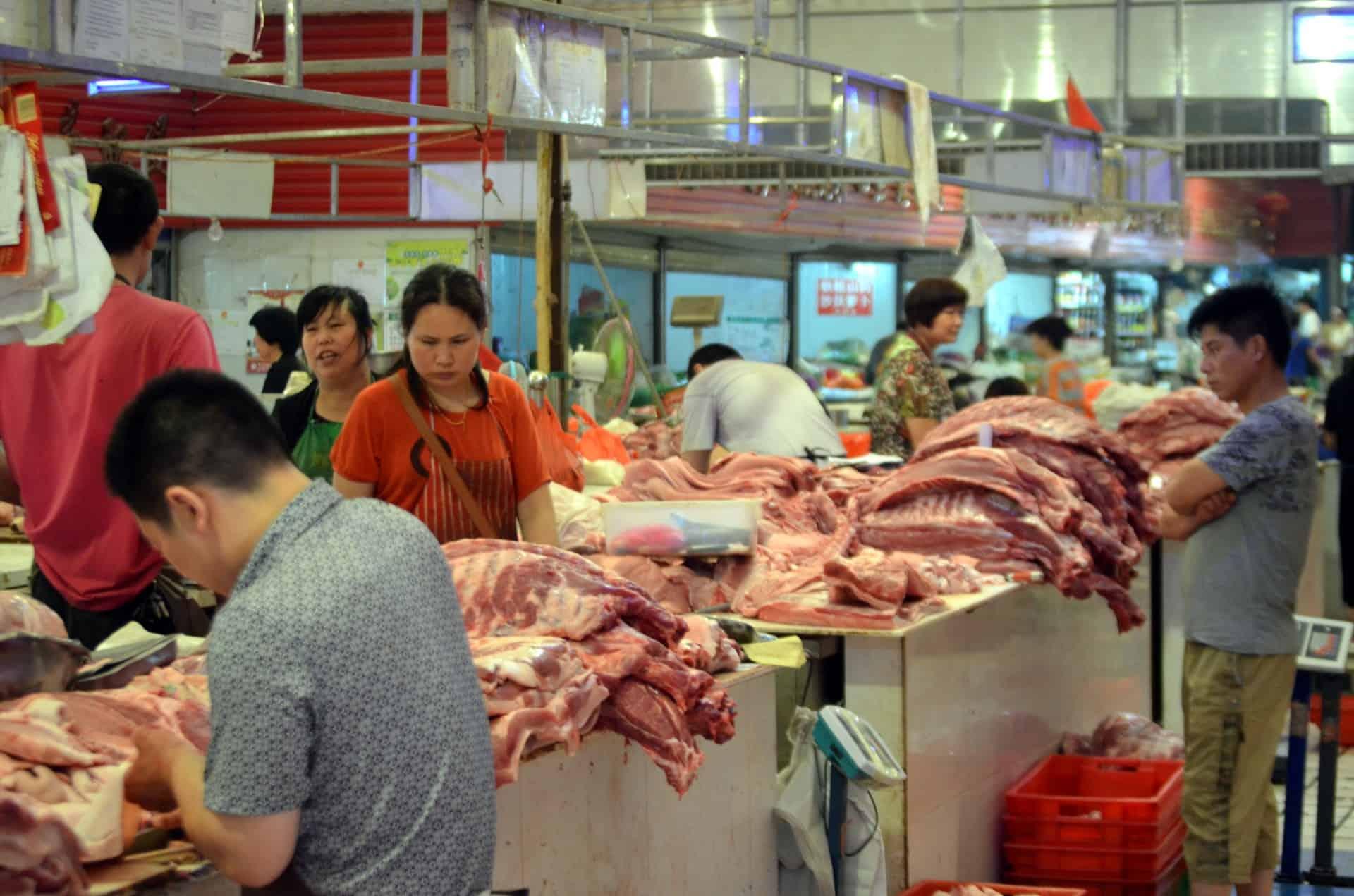 wholesale Meat Market in China via Publicdomainpictures.net