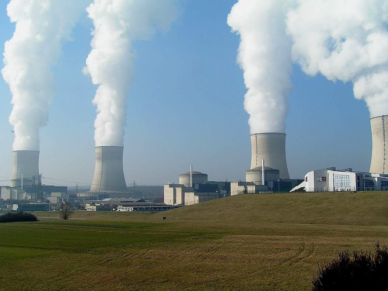 Nuclear Power Plant Cattenom, France via Stefan Kuhn on Wikimedia