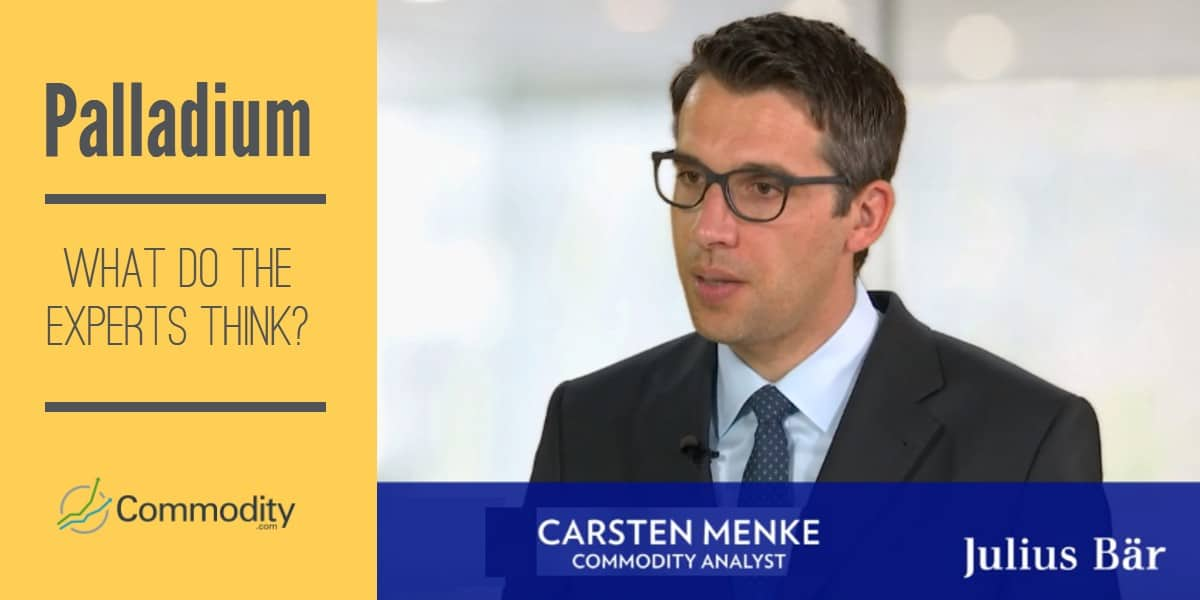 Palladium expert Carsten Menke Julius Bar