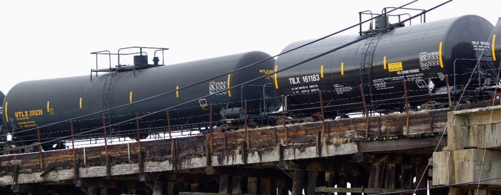 Rail Cars Transporting Ethanol