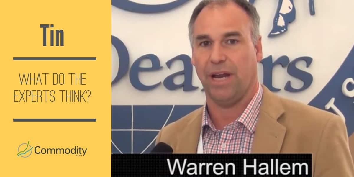 Tin expert Warren Hallam