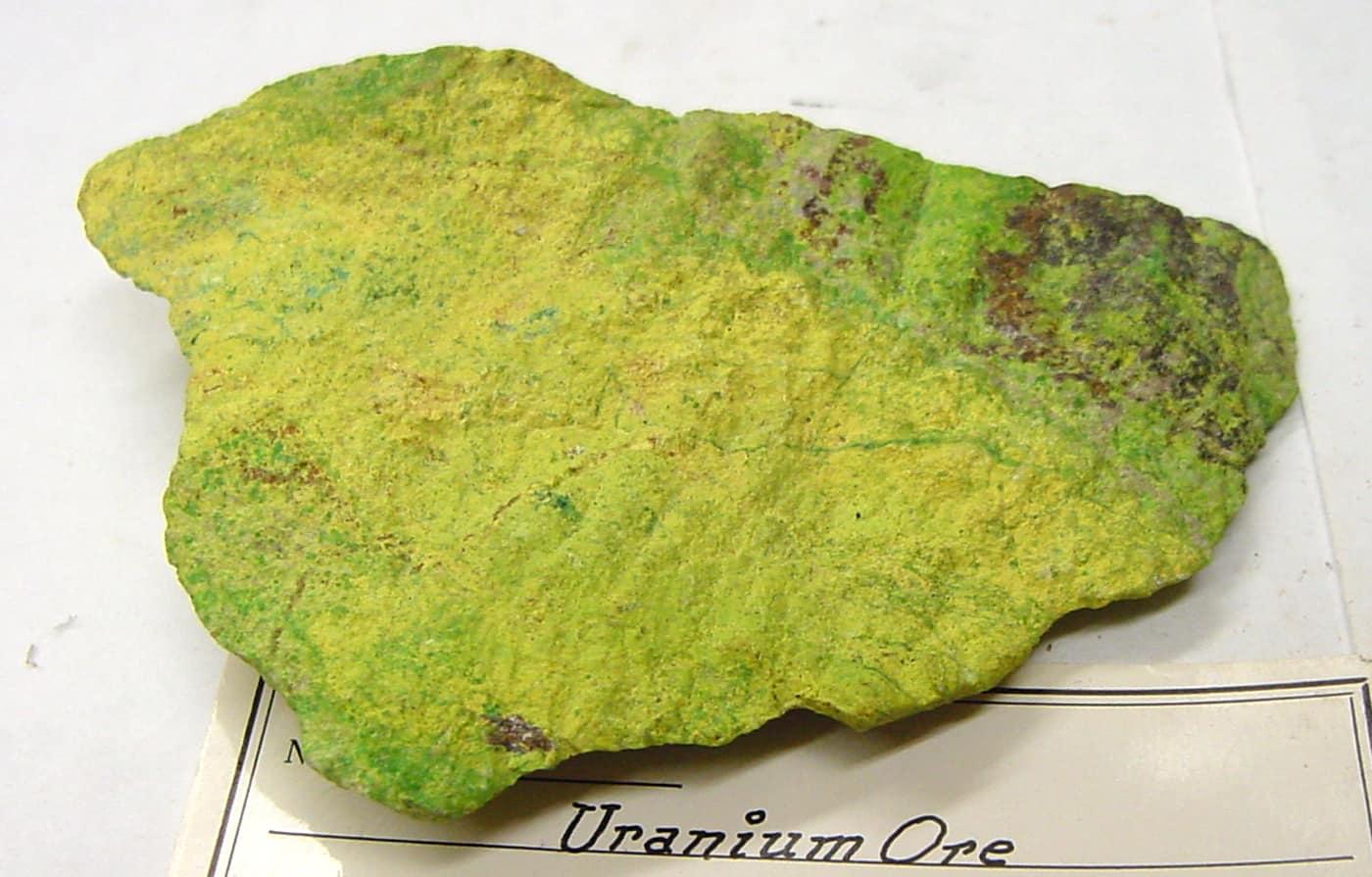 Uranium Ore via Wikimedia