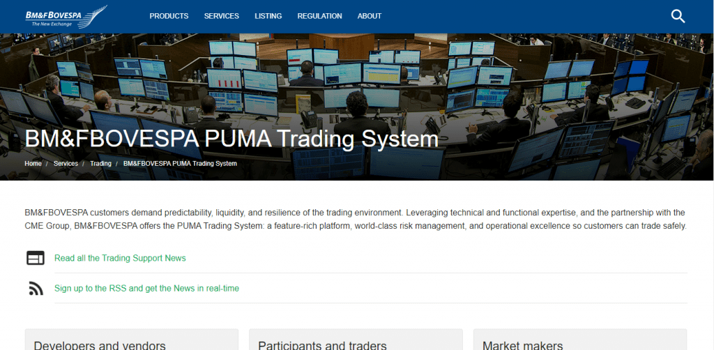Cme puma trading system