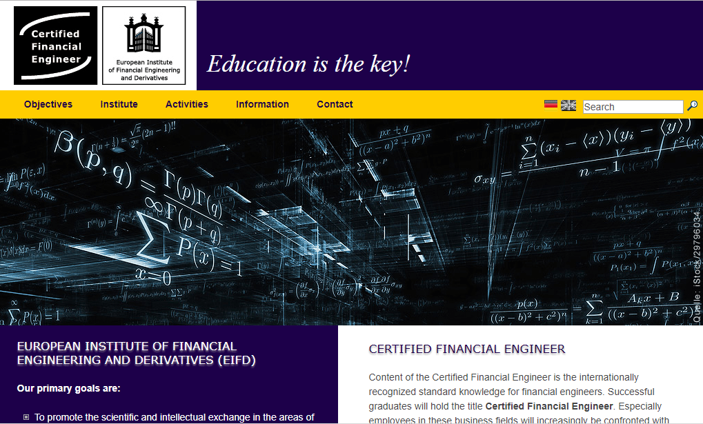 Deutsche Borse Group - Certified Financial Engineer