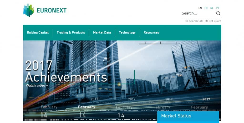 Euronext Homepage