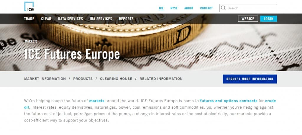 Trading at The Intercontinental Exchange (ICE) at Commodity com