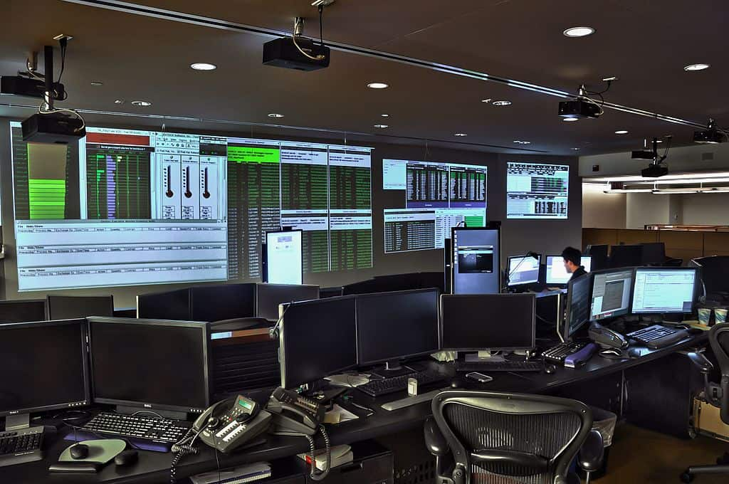 Interactive Brokers War Room via Wikimedia