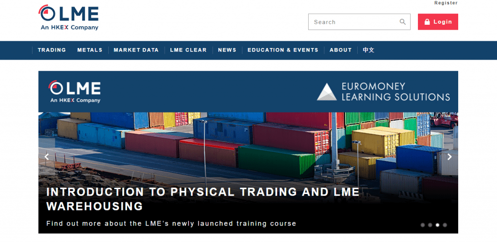 Trading at the London Metal Exchange (LME) at Commodity com