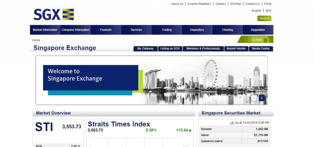SGX Homepage