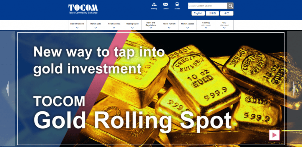 Trading at the Tokyo Commodity Exchange (TOCOM) at Commodity com