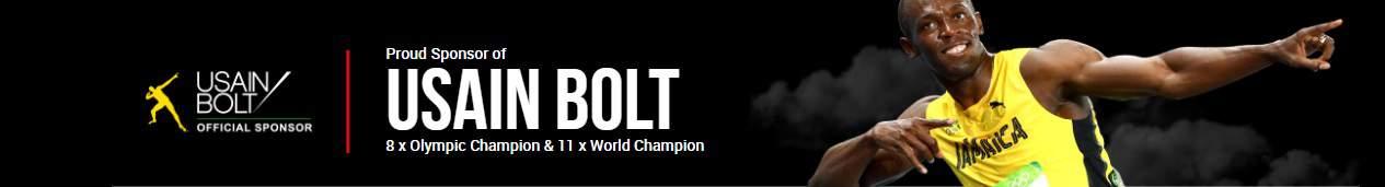 Usain Bolt Sponsored by XM.com