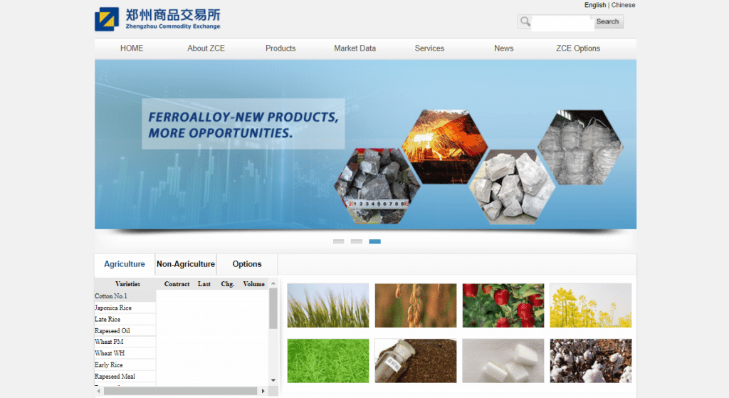 Zhengzhou Exchange Homepage