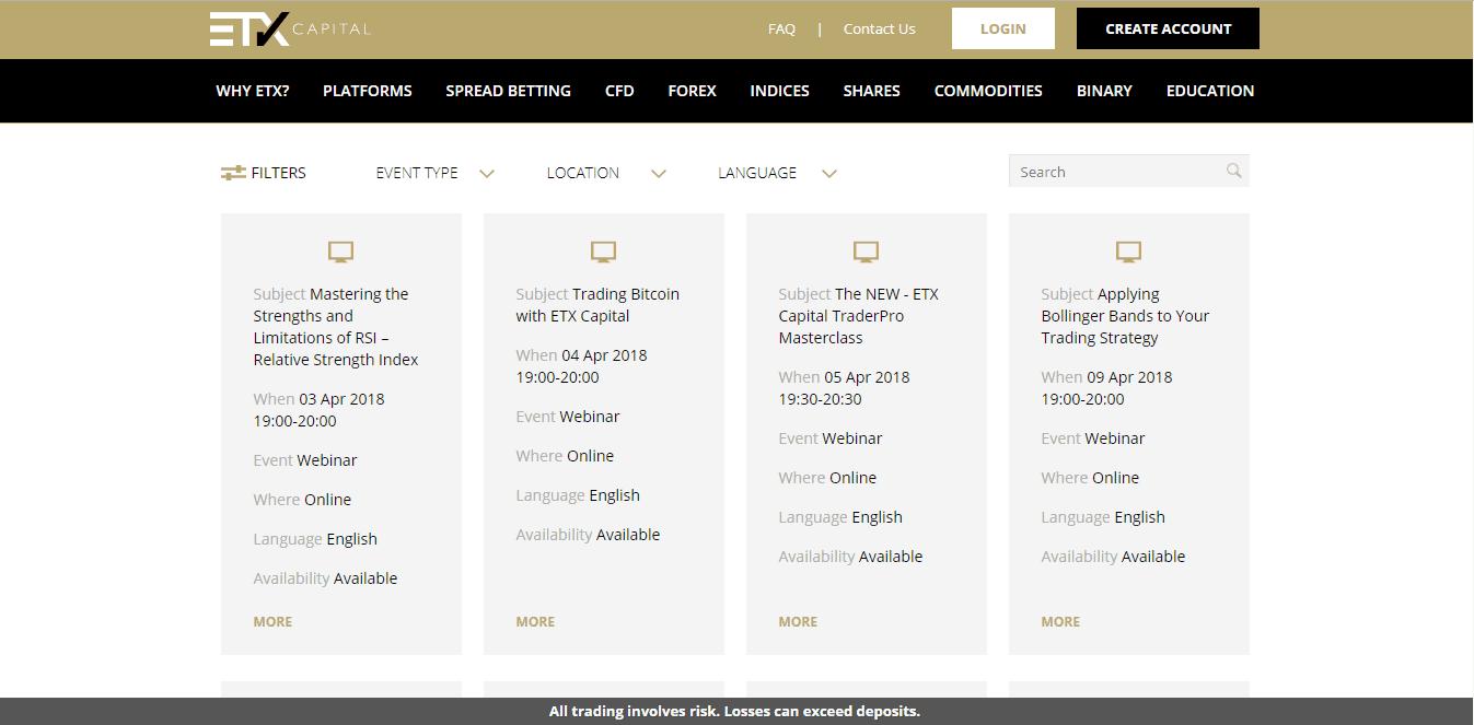 ETX Capital Webinars