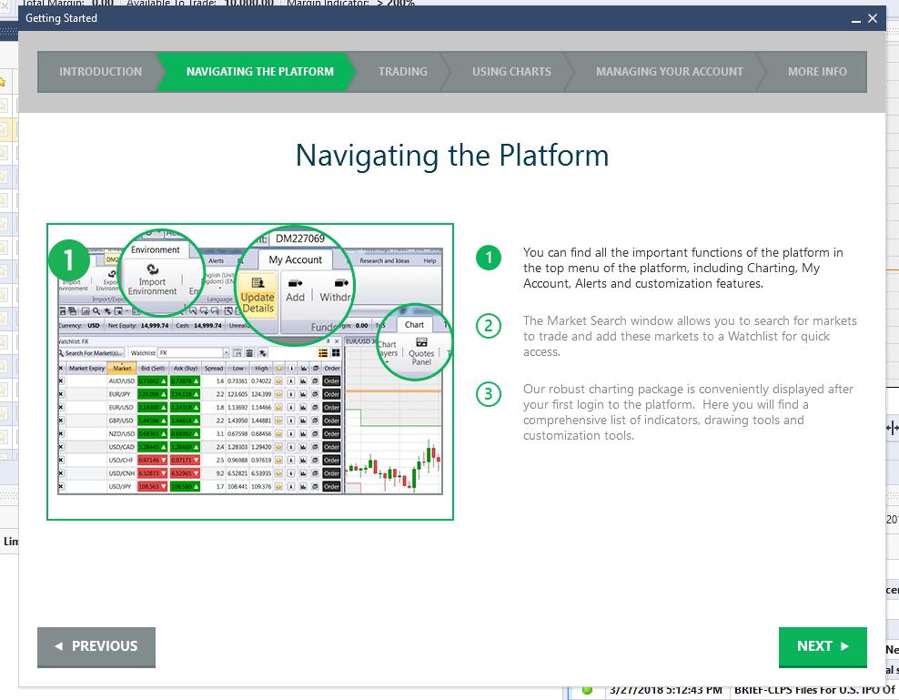 Forex.com Navigating the Platform