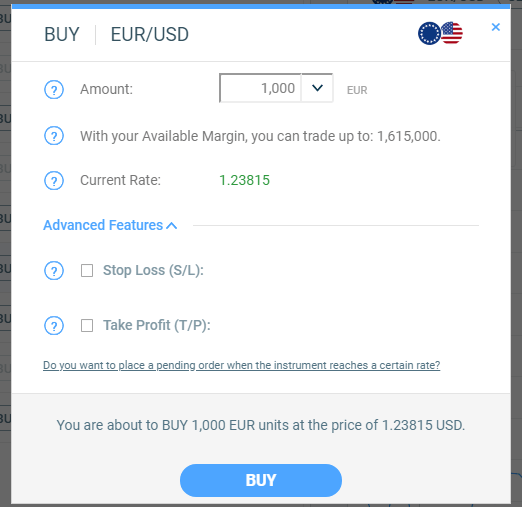 Fortrade Ticket