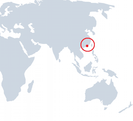 Map of the World with Hong Kong