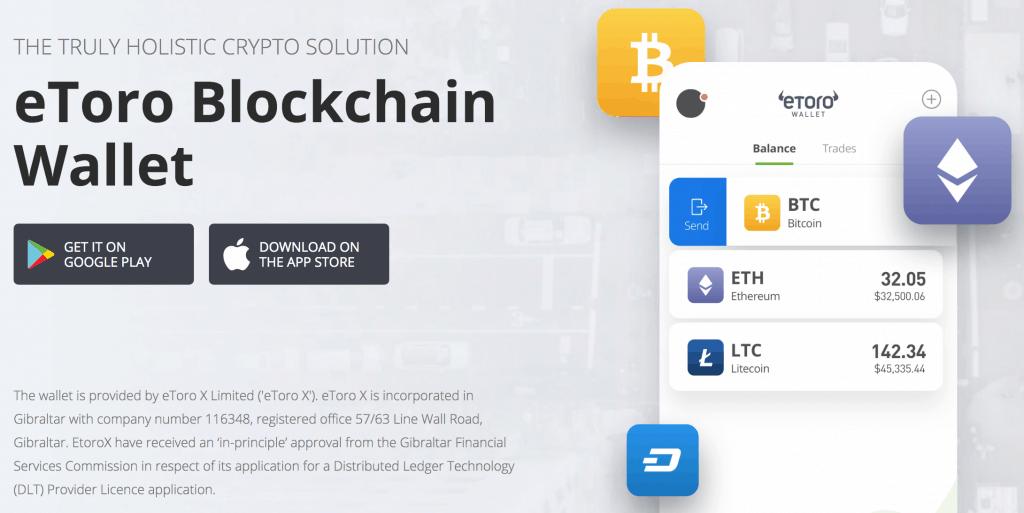 eToro Blockchain wallet app