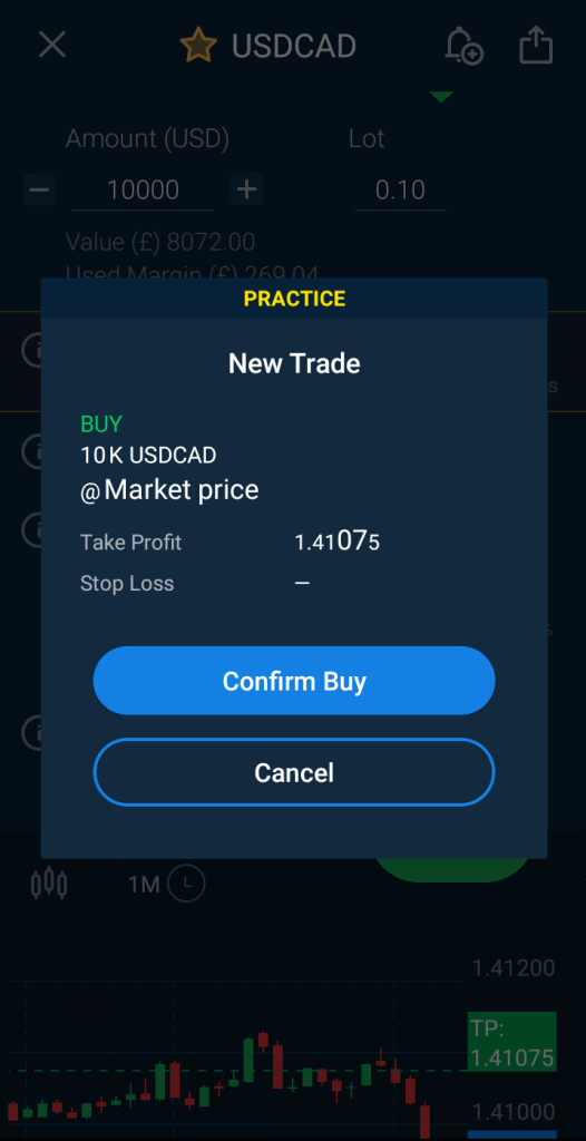 buy confirmation with avatrade