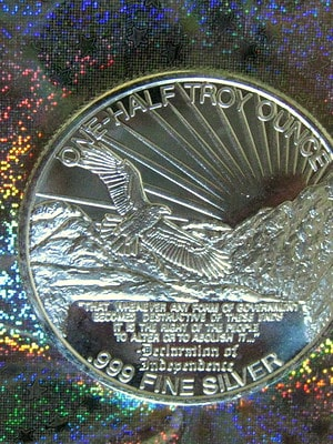 Jeffersion silver bullion round