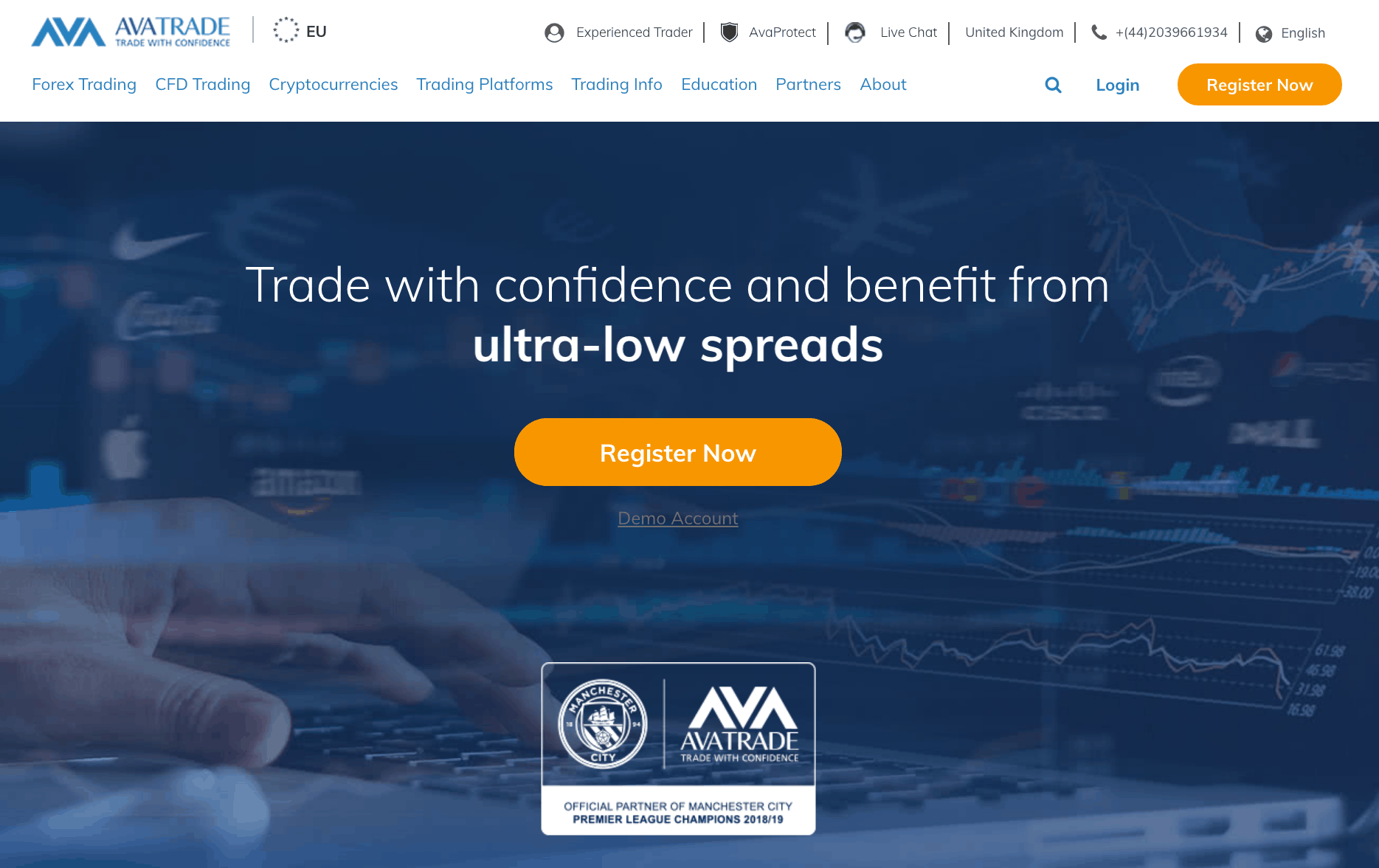 AvaTrade home page