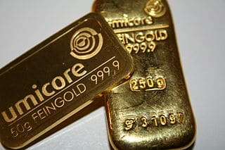 minted and cast gold bars