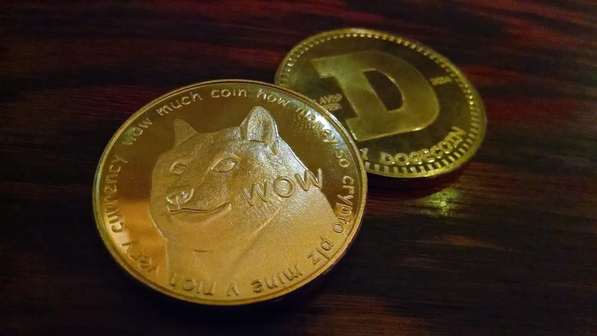 Dogecoin as a gold coin
