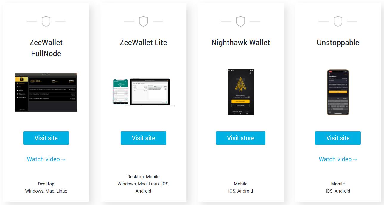 zcash shielded wallets