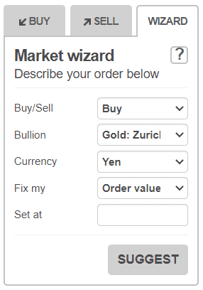 bullionvault order wizard