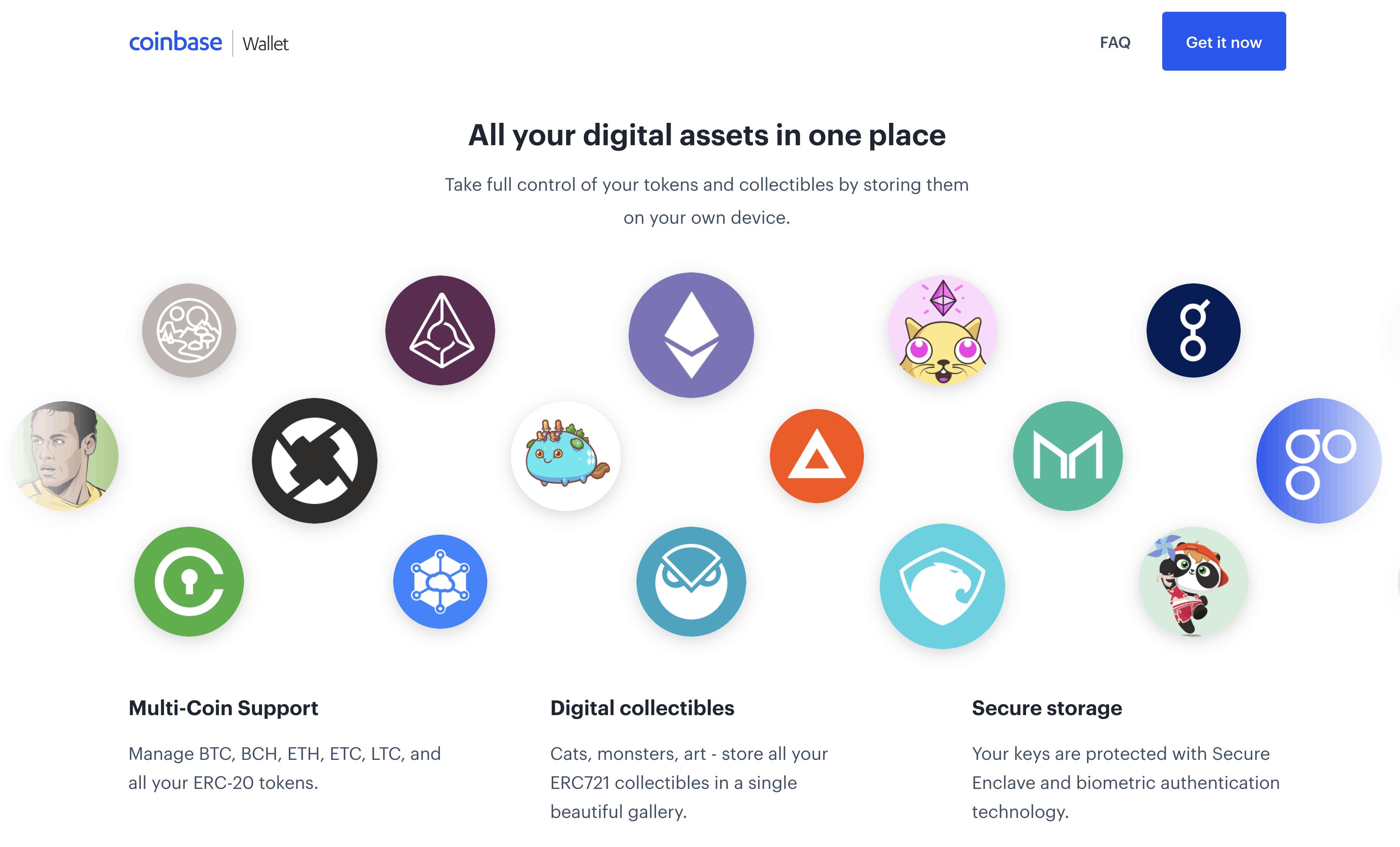 Coinbase Wallet cryptos available